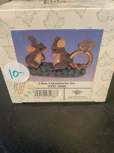 Vintage Charming Tails Fitz & Floyd I Have A Question For You Figurine #89/603