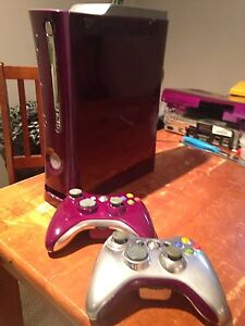 Custom metallic purple and chrome Xbox 360