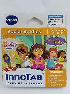 Vtech - InnoTab - Dora and Friends SocialStudies, Game Pack, 3-6 years, Pre-K-K