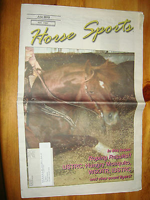 June 2010 Horse Sports News Paper Nothwest Rodeo Sports News Roping Results