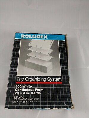 Rolodex 500 Ct White 2 16 X 4 Rotary Refill Cards C24-cfd New In Box Uncoated