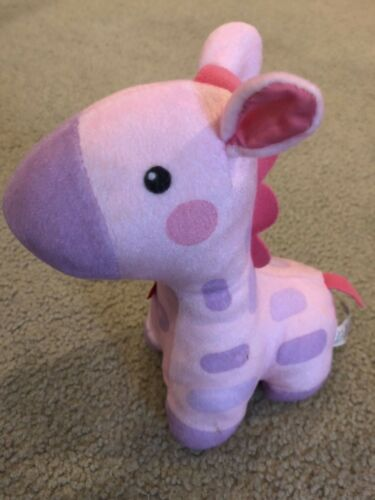Fisher Price Soothe and Glow Giraffe Pink And Purple Nightlight Musical Timer