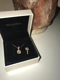 New pandora necklace and ring set
