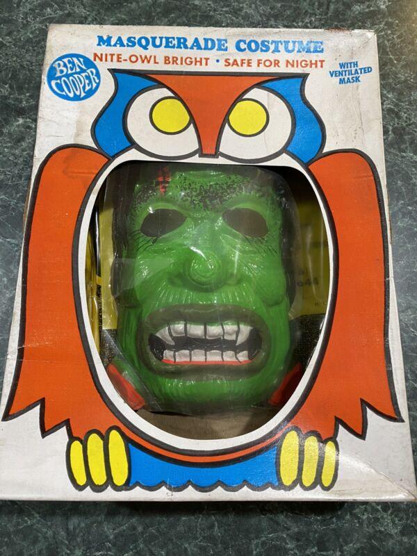 Vintage Ben Cooper FRANKENSTEIN New Costume & Mask w/ Original Box **RARE**