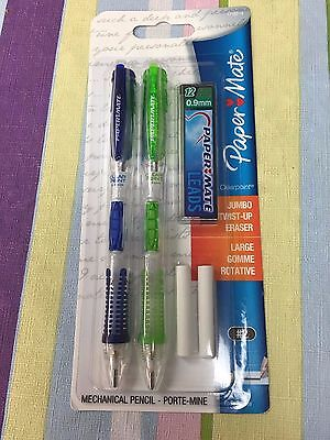 Paper Mate Mechanical Pencils Jumbo Twist-up Eraser 0.9mm 2 Precision Bold