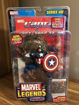 New Sealed Toy Biz Marvel Legends Series 8 VIII Ultimate Captain America
