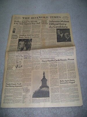 July 6 1960 The Roanoke Times Virginia Arnold Palmer Ingemar Johansson