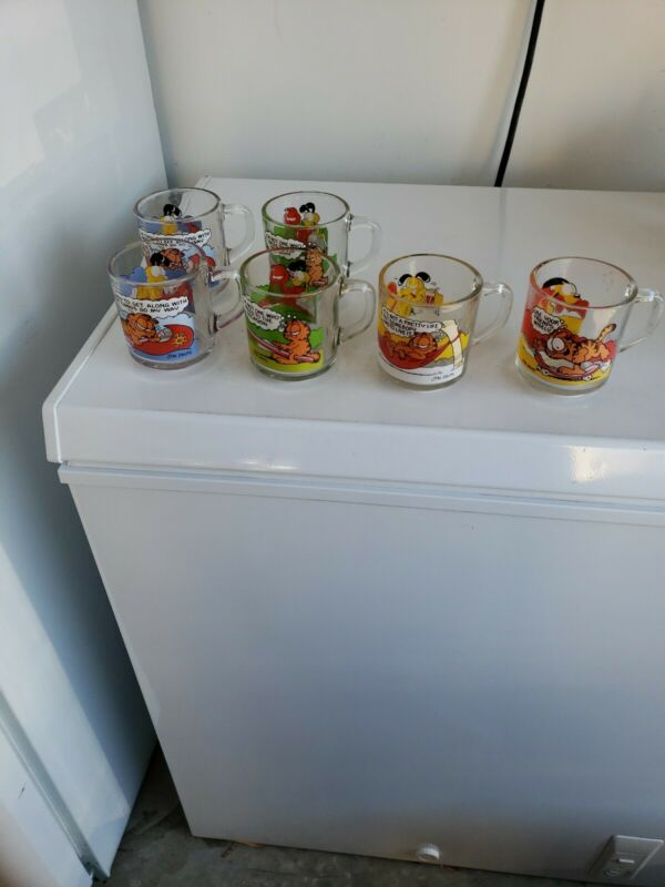 Vintage McDonalds Garfield & Characters 1978 Glass Mugs Set of 6 by Jim Davis