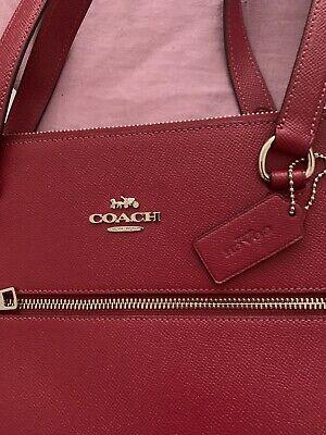 Coach Gallery Tote Shoulder Bag - Dark Fuschia