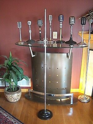 Vintage RARE 1940's Masco model No 7 microphone floor stand old Shure RCA Atlas