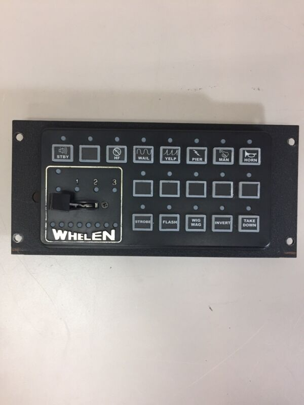 WHELEN CENCOM Red REMOTE CONTROL HEAD 01-0285981-00B