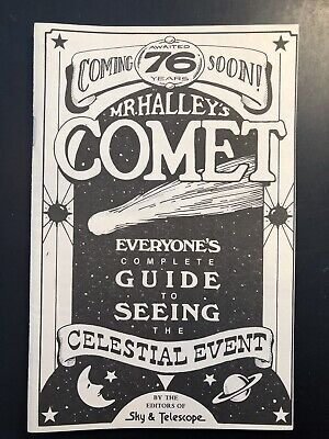 Vintage 1984 Halley's Comet Watch Guide Booklet Mark Twain Bushnell Telescope