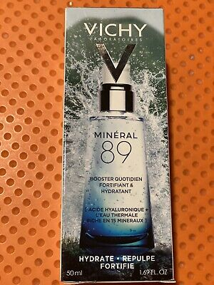 New in Box Vichy Mineral 89 Fortifying & Plumping Daily Booster 50 ml Exp 12/22