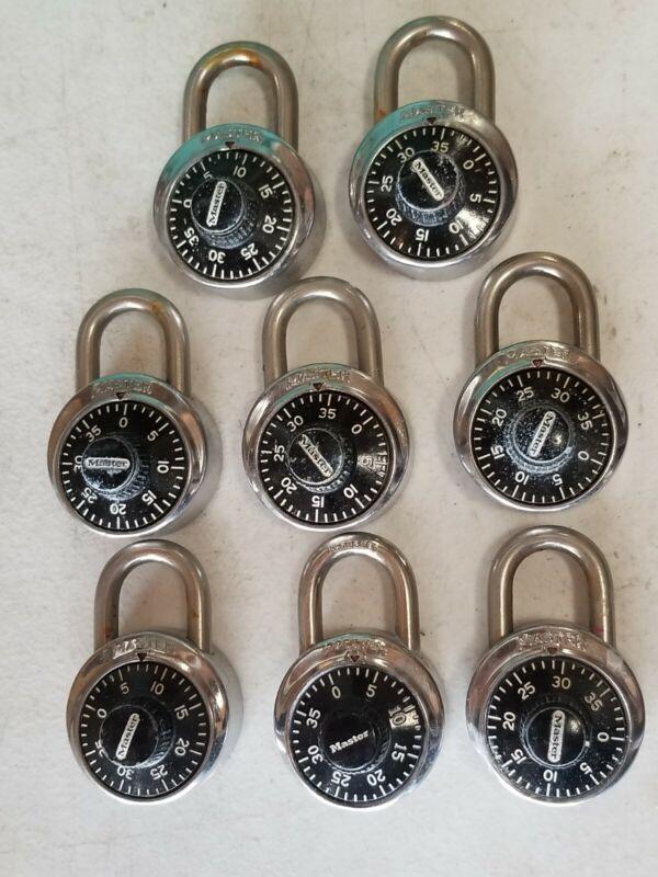 Lot of 8 MASTER LOCK Combination Locks Gym Locker - NO Combinations or Keys