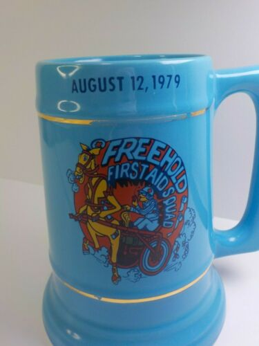 Vintage Freehold NJ  First Aid Squad Aug 12, 1979 Cup Mug Beer Stein Twin Rig