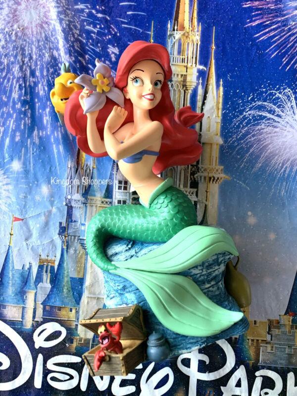 "Disney Little Mermaid Ariel Wind-up Musical 8.5"" Figure Statue Under the Sea"