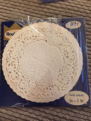 """Roylcraft  20    5""""  Paper Doilies  White Vintage"""