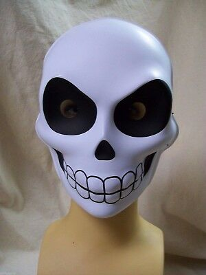 Fun Creepy Reaper Skull Face Costume Mask Muerto Puppet Goth Skeleton Grim Sugar (Sugar Skull Skeleton Costume)