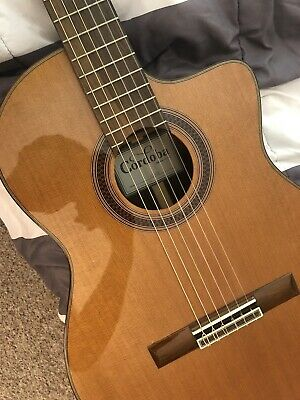 Cordoba C7-CE Classical Guitar Cedar - Bundle with Gig Bag Case! Very Well Used!
