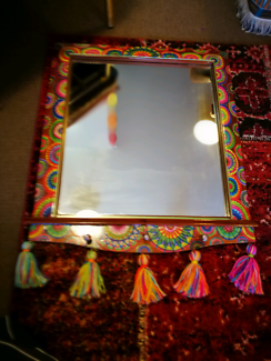 Mirror artist restored. Beautiful Boho Boutique