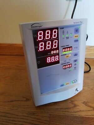 Datascope Accutorr Plus Patient Monitor 0998-00-0444-91A Medical Equipment