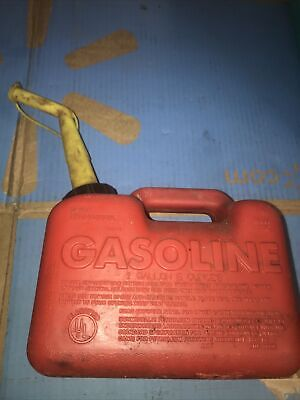 Vintage Craftsman P10 Gas Can 1 Gallon 6 Oz Vented With Spout Fuel Jug Gasoline