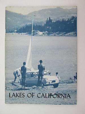 vintage 1972 Lakes of California Booklet by Don J Baxter Pacific Gas & Electric