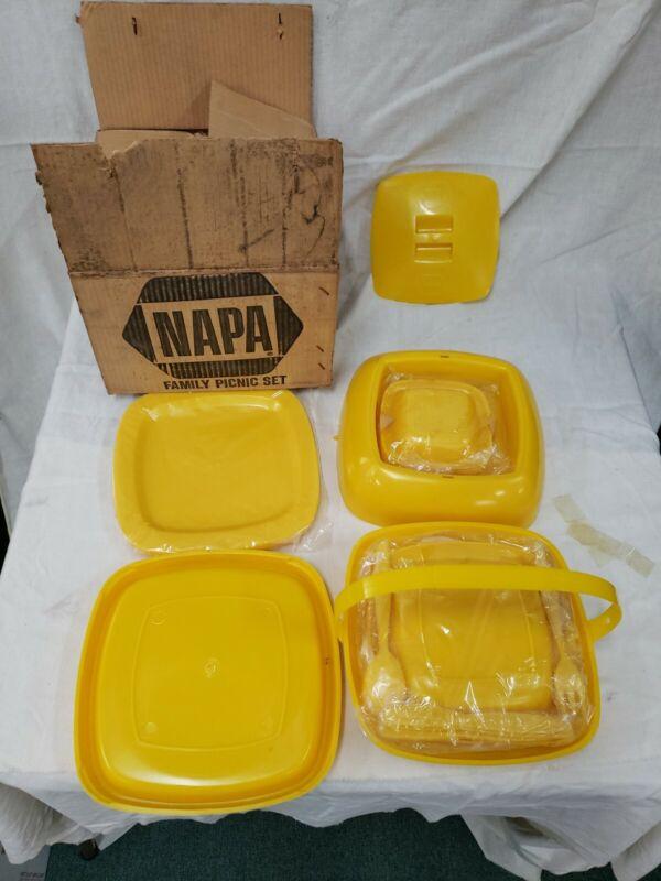 Napa Auto Parts Picnic Set New In Box Vintage.