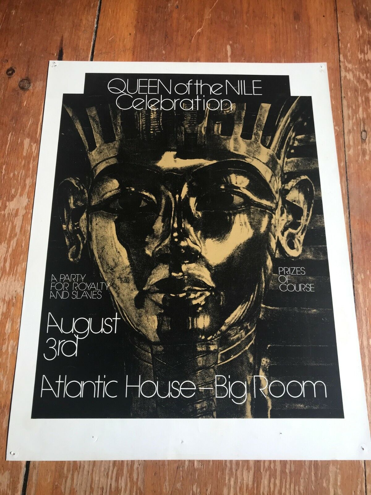 Queen Of The Nile Celebration Atlantic House Poster Provincetown MA Gay Cape Cod - $10.00