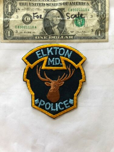 Old Elkton Maryland Police Patch un-sewn in great shape