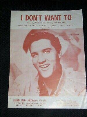 Sheet Music & Song Books - Elvis Sheet Music