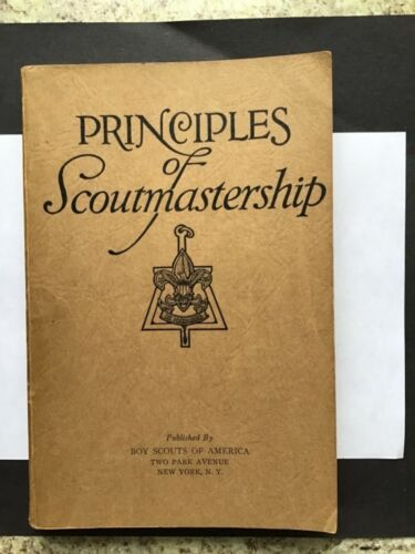 Boy Scout Principles Of Scoutermastership 2 Park Ave. Vintage Book