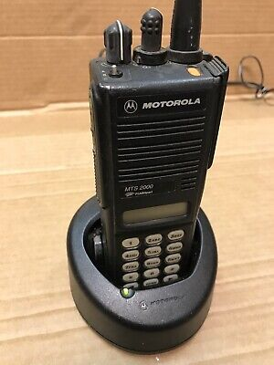 Motorola Mts2000 Radio H01uch6pw1bnwbatterychargerantennaac-no Mic