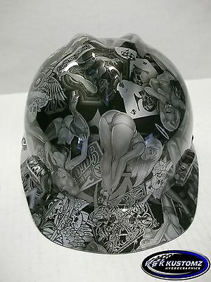 Naughty Boy Pattern Short Brim New Custom MSA V-Gard Hydro dipped Hard Hat
