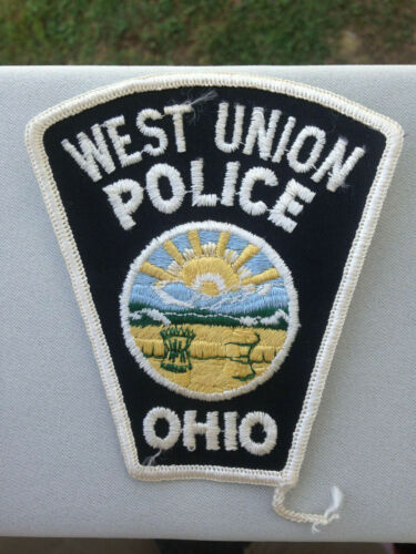 West Union Ohio/OH Police Patch--Free Ship