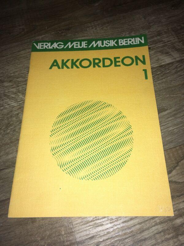 Akkordeon 1 Notenbuch Noten Heft für Akkordeon DDR