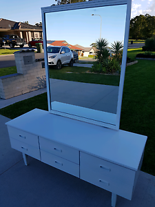 White lowline dresser with mirror Wauchope Port Macquarie City Preview