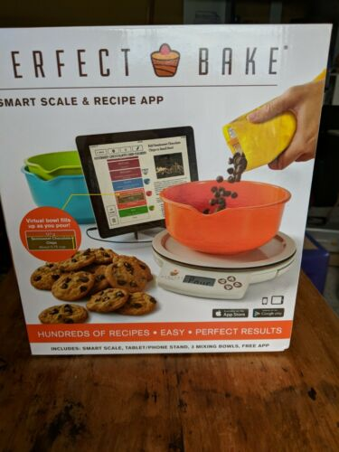Perfect Bake 1.0 Smart Scale and Recipe App Kitchen Tool, Wh