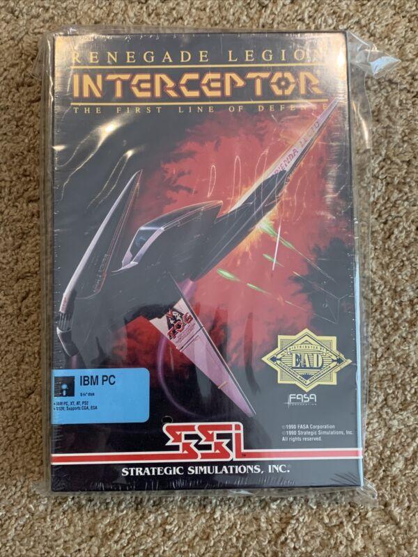 Renegade Legion Interceptor First Line of Defense Commodore Amiga Game RARE HTF