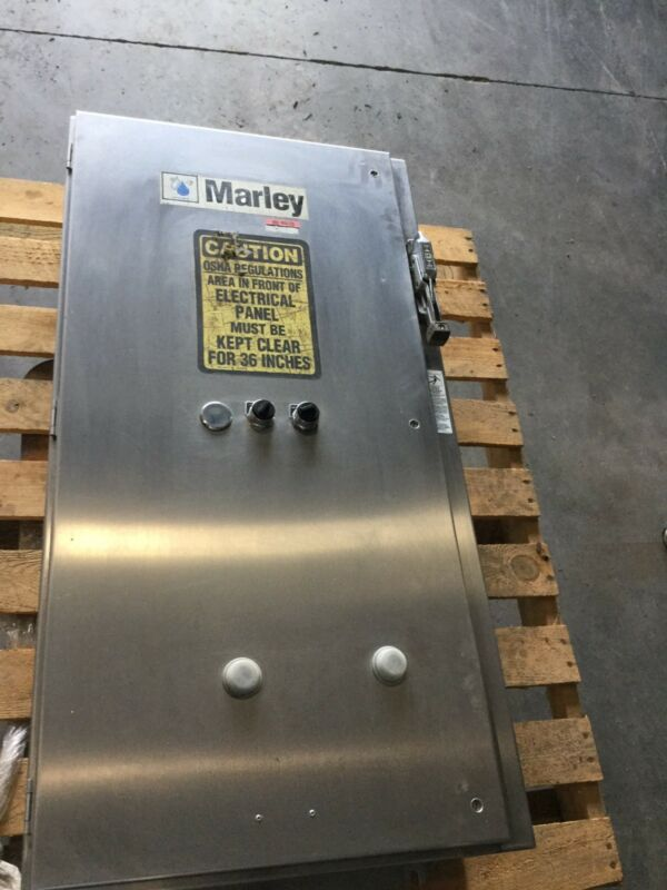 Square D Stainless Steel Enclosure, W/ 2 Speed 30 HP 480V 2 Speed Motor Starters
