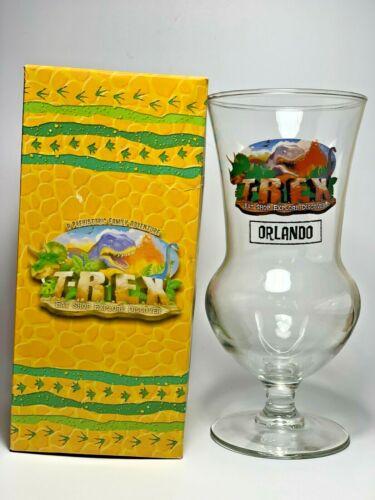 Disney World ORLANDO T-REX Restaurant HURRICANE SOUVENIR GLASS NEW IN BOX