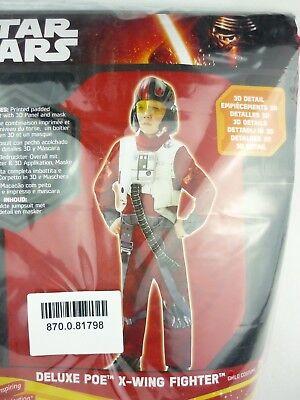 Rubies 620266 Star Wars EP7 X-Wing Fighter Poe Deluxe Kinderkostüm 9-10 Jahre