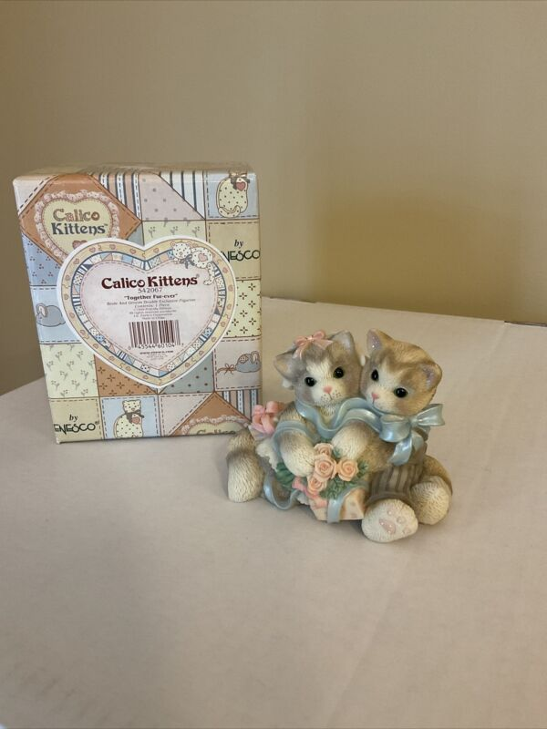 CALICO KITTENS Together Fur-ever Bride & Groom Cat Double Exclusive 542067