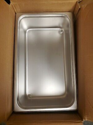 Winco Spjl-106 6-inch Deep Full-size Anti-jamming Steam Table Pan Used