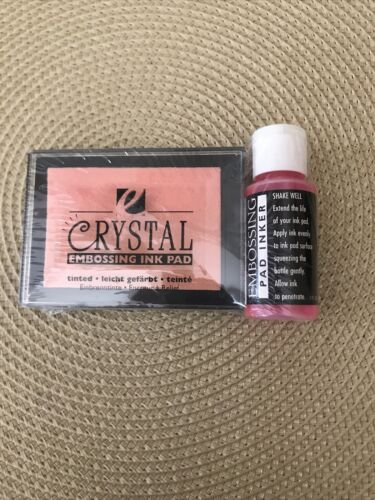 Crystal  Embossing Ink Pad For Rubber Stamps. W/Embossing Pa