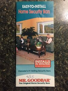 Home security bars