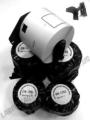 8 Rolls Labels123 Brand-fits Brother Dk 1202 P-touch Ql700 Ql500 Free Cartridge