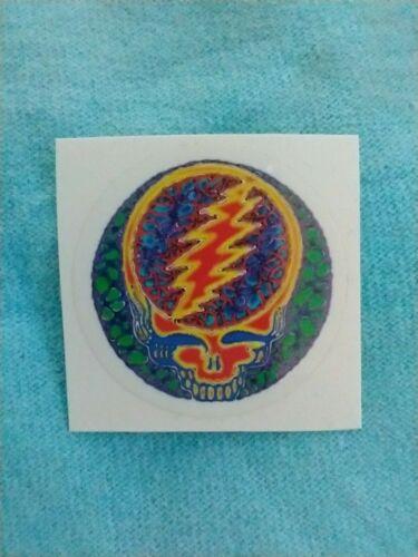 Grateful Dead Rusty Blue MINI 1.25 Inch Clear Window Sticker