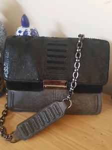 Mimco black charcoal bag rrp499 Docklands Melbourne City Preview