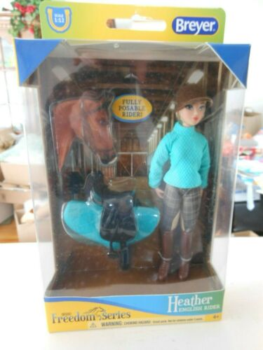 Breyer HEATHER #62022 HORSE DOLL Classic 1:12 English HORSE Rider  Poseable